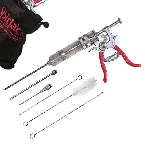 The SpitJack Magnum Meat Injector Gun (with 4 needles) by SpitJack