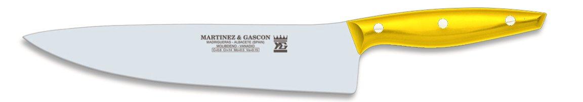 Martínez y Gascón Nova - Cuchillo de Cocinero, 20 cm, Color Rojo