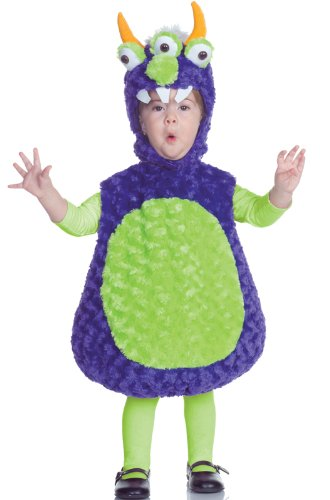 Underwraps Costumes Baby's Three Eyed Monster Belly, Purple/Green, -