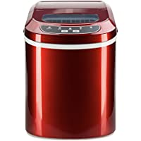 Digital Ice Maker With 2 Cube Sizes Red 26 Lbs