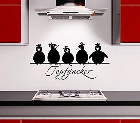 Wandtattoo Wandsticker Wandaufkleber Sprüche Küche Topfgucker Vögel Kochen