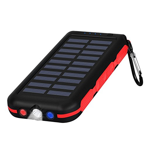 Portable Charger Power Bank Solar Charger 25000Mah Waterproof Batter Pack For Tablet & CellPhone & More