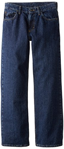 Wrangler Big Boys' Authentics Loose Fit Jeans, Dark Rinse, 10