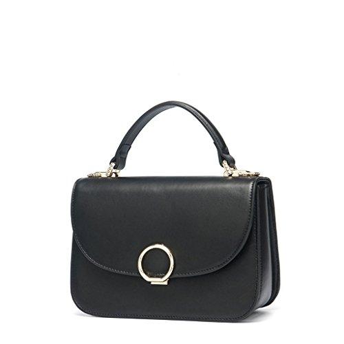 en Style sac sac Sac Sac Messenger Bag à style européen à main Lxf20 Black féminin PU métal bandoulière féminin P8xTS