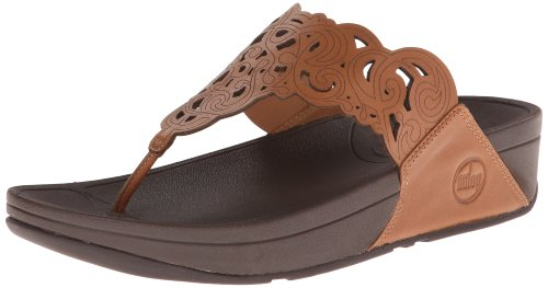 FitFlop Women's Flora Flip Flop,Tan,8 M US by FitFlop