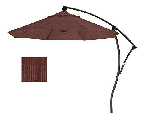 9' Cantilever Market Umbrella Deluxe Crank Lift - Bronze/Olefin/Terrace Adobe
