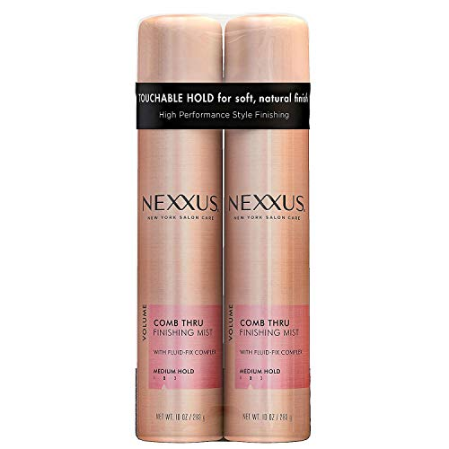 NEXXUS COMB THRU Natural Hold Design and Finishing Mist 10 oz (Pack of 2)