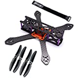 Readytosky 220mm FPV Racing Drone Frame for Martian II Carbon Fiber Quadcopter Frame Kit 4mm Arms with Power Distribution Board(5030 propellers,battery strap)