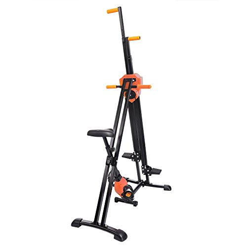 Corgy Vertical Climber Workout Machine,Stair Climber Machine for Home Body Trainer(Orange)