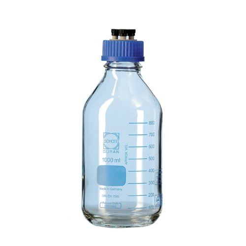 Duran 11  298  21  45  DIN HPLC Bottle with Thread, Contents: 500  ml (Pack of 2) Contents: 500 ml (Pack of 2) Duran Group GmbH 11 298 21