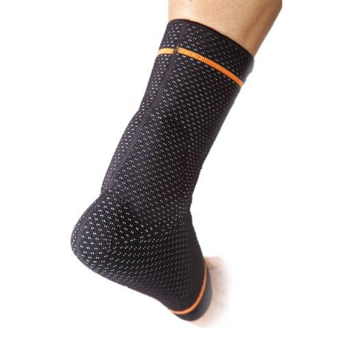 BRD Sport Achilles Compression Ankle Brace (Black with Orange Accent Stripe, L [9''-9.75'']) by BRD Sport (Image #4)