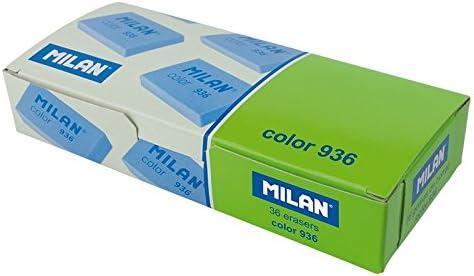 Caja 36 Gomas Plastico Fluo MILAN 936 Rectangular Color Surtido ...