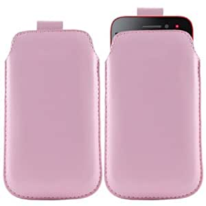 Viesrod iTALKonline BABY PINK Quality PU Leather Slip Pouch Protective Case Cover with Pull Tab For Nokia Lumia 710