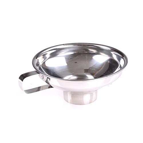 1 Pcs Stainless Steel Wide-Mouth Canning Funnel With Wide-Brimmed Handle,4.7 Inch Diameter By DINGJIN