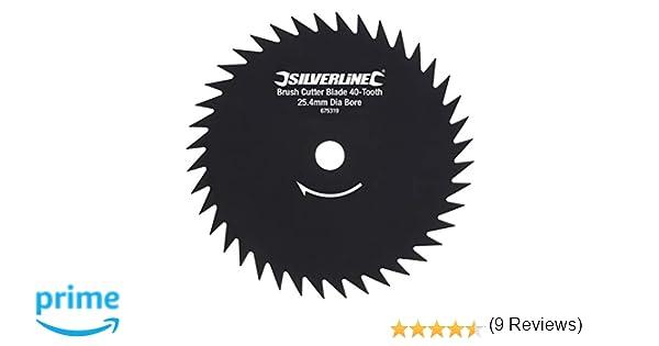 Silverline 675319 - Disco para desbrozadora de 40 dientes (Agujero Ø25,4 mm)