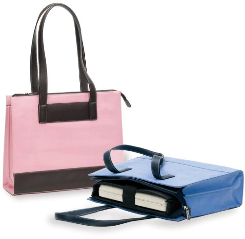 BELLINO BLACK SUEDE / LEATHER TOTE BAG - PINK (Bellino Leather Tote)