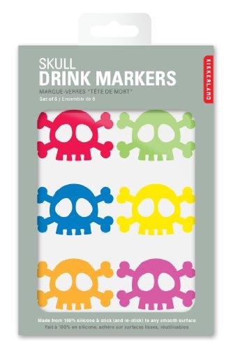 Kikkerland Skull Silicone Drink Markers, Set of 6 by Kikkerland (Image #2)