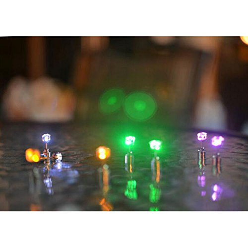 Con Blue nbsp;pair Acciaio Tipo Earrings 1 Rave Party Ciondolo Multicolore Per Up Drop Led Green A Lesypet Glowing Ear Light Corona Diamante In Lobo WCq0TBf55