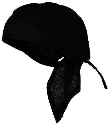 Doo Rag Du Rag Do Cotton Bandana Head Wrap Solid Color Chemo Cap (Black) ()