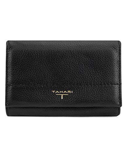 - Tahari womens Flap Indexer Wallet,  Black, One Size