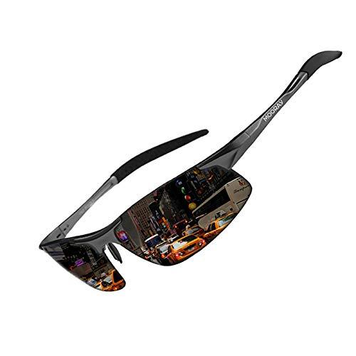 MOORAY Mens Sports Polarized Sunglasses UV Protection Fashion Sunglasses for Men Fishing Driving(Black,Grey)