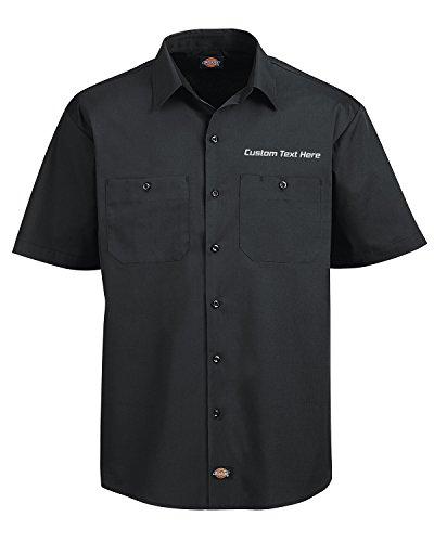 Embroidered Short Sleeve Work Shirt - 4
