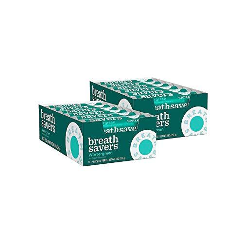 Breath Savers with Neurtazin Wintergreen Sugar-free Mints 24 Packs of 0.75 Oz
