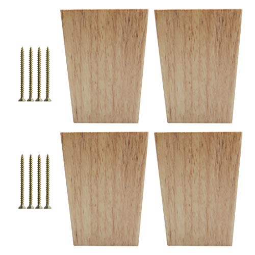 4pcs Square tapered wood table legs