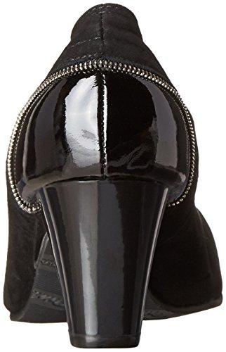 Suede Petals Pump Women's Regent Dress Rose Black zfqOq