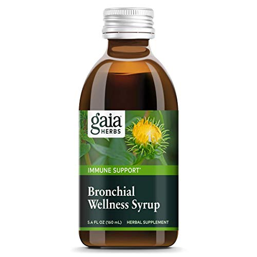 Gaia Herbs Bronchial Wellness Herbal Syrup, 5.4 Ounce - USDA Organic, Soothing Support for Throat and Respiratory Health with Eucalyptus Essential Oil
