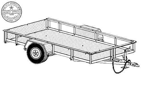 10AL Trailer Plan - 10'x5' Aluminum Bolt Together 3.5k Trailer DIY How-to Blueprint by Master Plans & Design