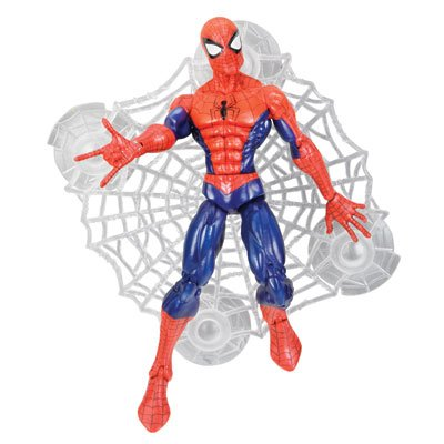 2009-2010 Classic Spider-Man (wall sticking web) and Venom (Scorpion stinger) 2 figure pair (Spider Man Symbiote Suit)