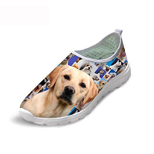 可聴キャンドル暖かくCozeyat(jp) スポーツシューズ レディース メンズ メッシュ シューズ 通気 軽量 3Dプリント 犬 柄 トラベル ランニングシューズ クッション性 カジュアル 靴 おしゃれ ファッション プレゼント 11サイズ選べる