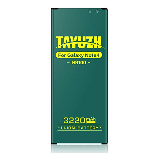 Note 4 Battery TAYUZH 3220mAh Li-ion Replacement Battery Compatible Samsung Galaxy Note 4 N910,AT&T N910A,Verizon N910V,T-Mobile N910T,Sprint N910P, N910U LTE, Note 4 Spare Battery [24 Month Warranty]