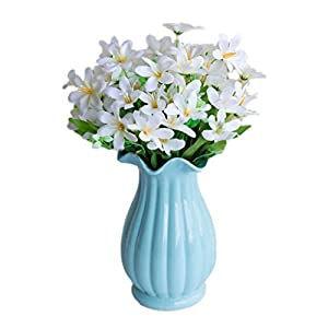 Artificial Flowers, Fake Flowers Plastic 6 Branches/1Pc Narcissus Bouquets Gifts Wedding Party Kitchen Home Decor 92