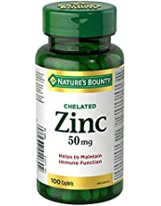 Nature's Bounty Zinc Supplement, Helps Maintain Immune Function, 50mg, 100 caplets