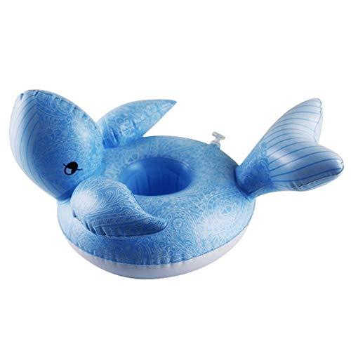 Forma de ballena Pvc inflable Posavasos Agua flotador Estera ...