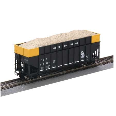 (HO RTR 40' Wood Chip Hopper, C&O ATH95651)