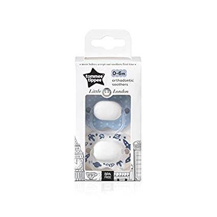 Tommee Tippee Little London: 2 x Chupete 0-6m (Espacio): Amazon.es: Bebé