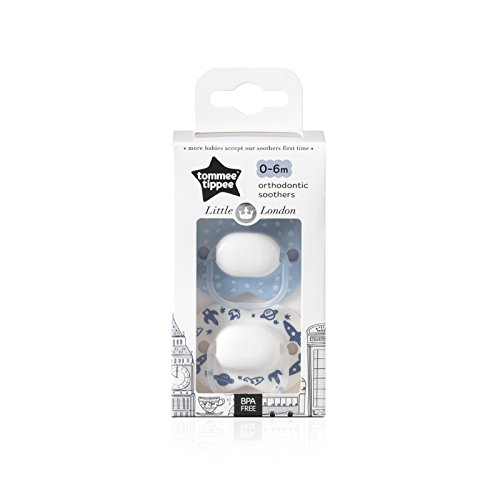 Tommee Tippee Little London: 2 x Chupete 0-6m (Espacio)