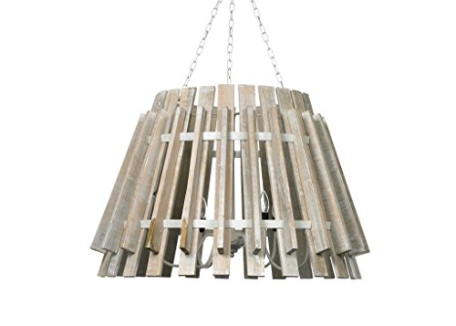 Cool Fixtures Light (Country Ceiling Light, White Wood)