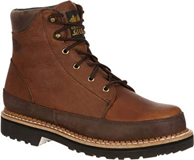 """82ed8bd234140 Image Unavailable. Image not available for. Color: Georgia Boot Men's  GB00011 6"""" Georgia Giant Casual,Dark Brown/Brown Leather,"""
