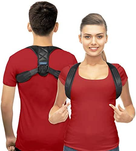 Posture Corrector for Men and Women - Upper Back Brace Straightener with Adjustable Breathable Clavicle Support Effective for Neck, Back and Shoulder Pain Relief Lumbar Support(Unisex)