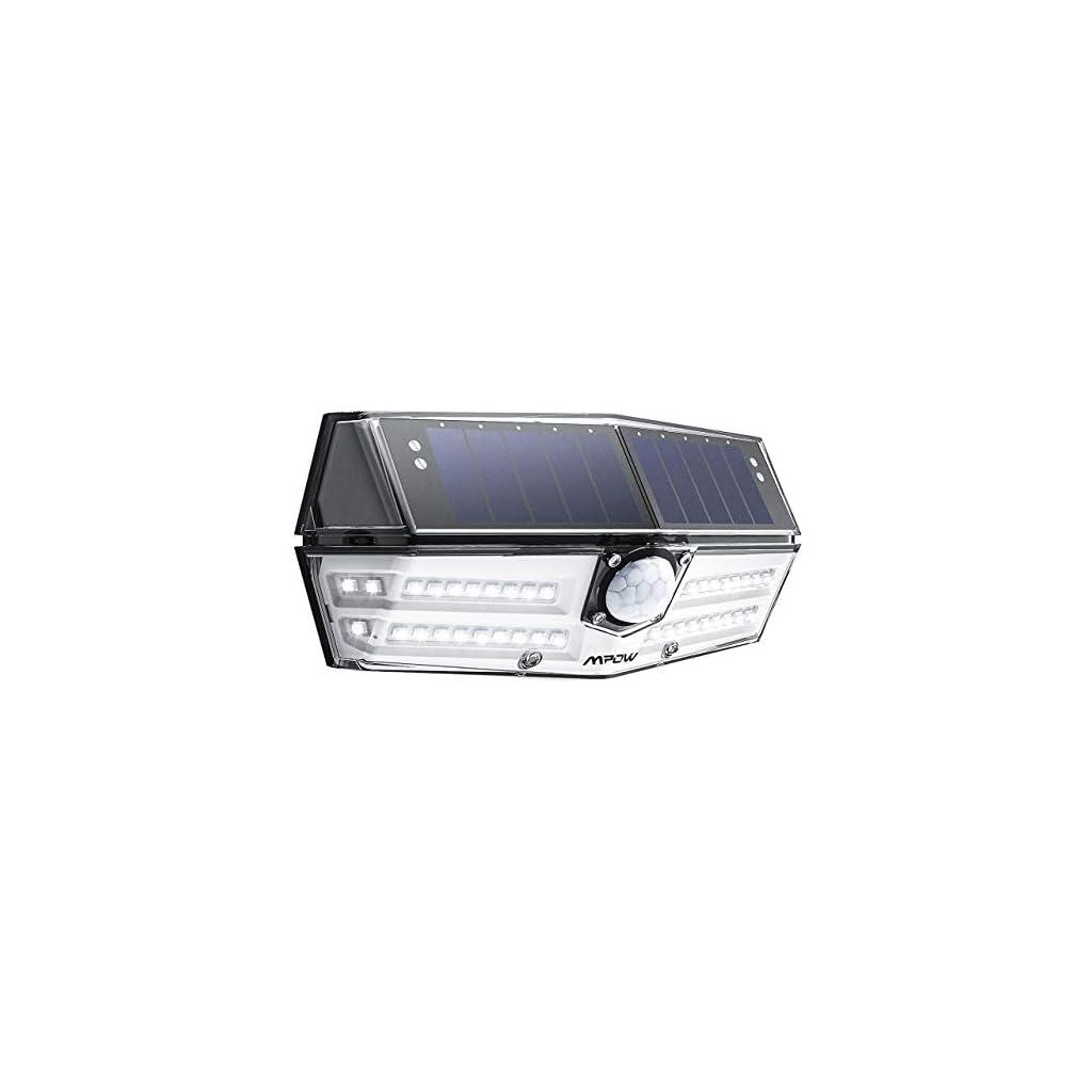 Mpow-Premium-Luz-Solar-de-Exterior-40LED-Impermeable-IP66-ngulo-de-Iluminacin-de-270-Lmpara-Solar-de-Pared-con-Sensor-de-Movimiento-y-Panel-Solar-de-Alta-Eficiencia-para-Jardn ES