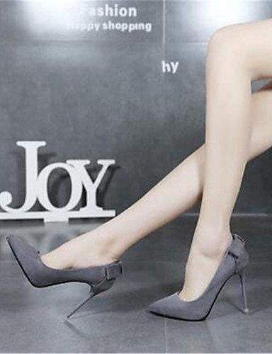 GGX/Damen Schuhe Synthetik Stiletto Heel Heels Heels Hochzeit Schwarz/Rot/Grau gray-us6 / eu36 / uk4 / cn36