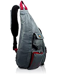 Crossbody - Over Shoulder Backpack by Luck Route  – Compact Sling Bag for Men & Women with Single Strap, Grey
