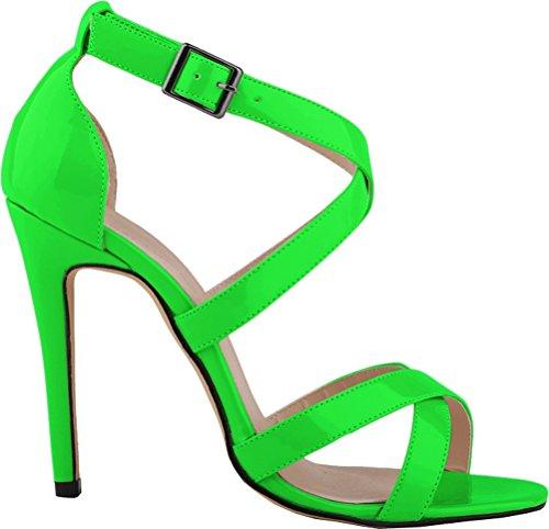 Salabobo - Zapatos con tacón mujer Verde
