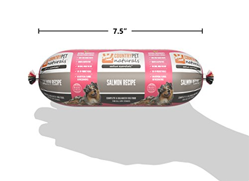 Native Essentials Dog Food (Salmon Recipe, 8 Rolls - 12 lbs) - Natural Ingredients with Added Vitamins & Minerals - Shelf Stable Food, Topper or Training Reward - Made in The USA by CountryPet Naturals (Image #3)