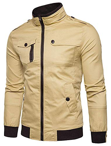 Hop Unisex Urban Bomber Khaki Jacket De Sleeve Chaqueta 5 Béisbol Basic Hip Estilo L Size Outerwear Harrington Long Simple Chaquetas Color p5xCfwq5r