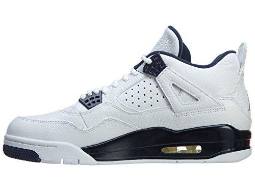 Marine Blanc Jordan Multicolores Lger Homme Air Nike Ls 4 Bleu blanc Basketball Retro Chaussures De Pour qZwAP1